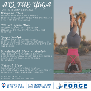 Fitness-Yoga-Edwards Air Force Base-All-The-Yoga